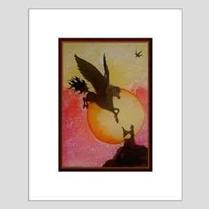 Pegasus Sunrise Small Poster