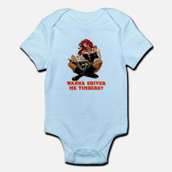 Pirate Wench Shiver Me Timbers Infant Bodysuit