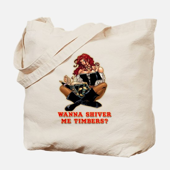 Pirate Wench Shiver Me Timbers Tote Bag