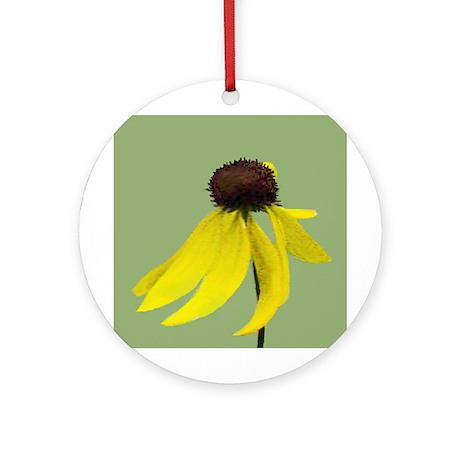 Yellow Coneflowers Ornament (Round)