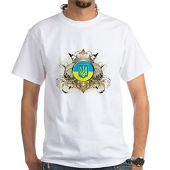 Stylish Ukraine White T-Shirt