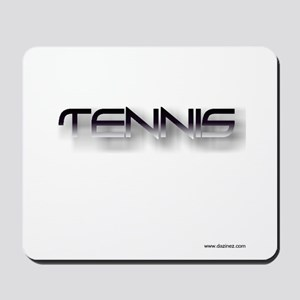 tennis black zh Mousepad