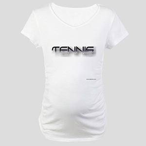 tennis black zh Maternity T-Shirt