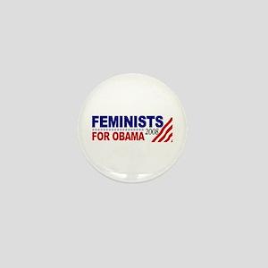 Feminists for Obama 2008 Mini Button