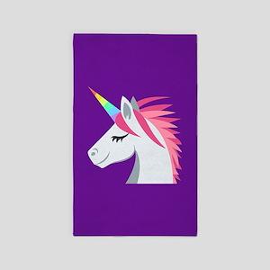 Unicorn Emoji Area Rug