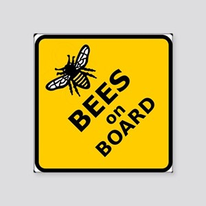 Bees on Board Sticker Sticker
