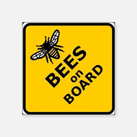 Bees on Board Sticker Sticker