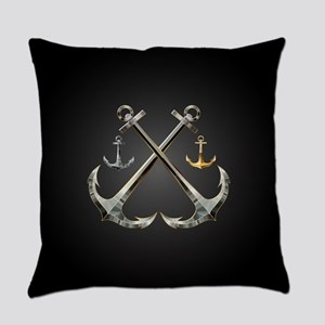 Shiny Anchors Everyday Pillow