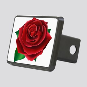 Red Rose Rectangular Hitch Cover