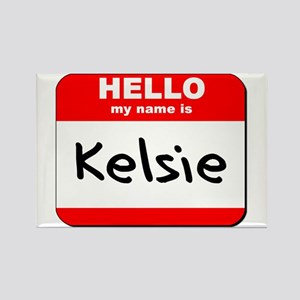 Hello my name is Kelsie Rectangle Magnet