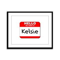 Hello my name is Kelsie Framed Panel Print