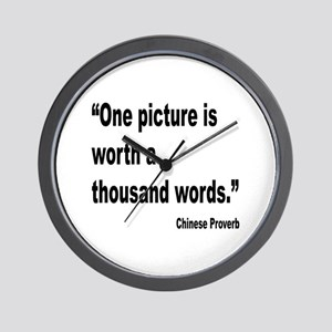 Picture Thousand Words Proverb Wall Clock
