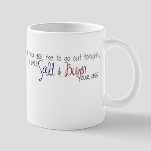 salt and burn Mugs