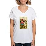 Birthday Wishes Women's V-Neck T-Shirt