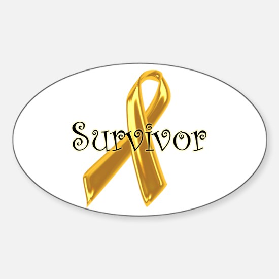 Childhood Cancer Oval Decal
