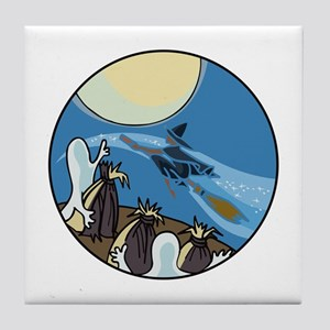 Ghosts are coming Tile Coaster