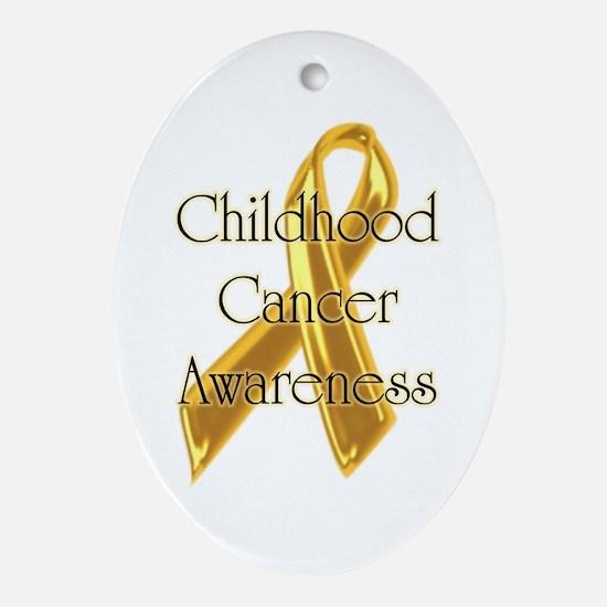 Childhood Cancer Oval Ornament
