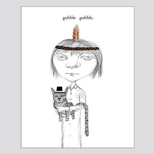 Gothic Girl Thanksgiving Small Poster
