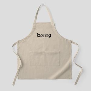 Boring BBQ Apron