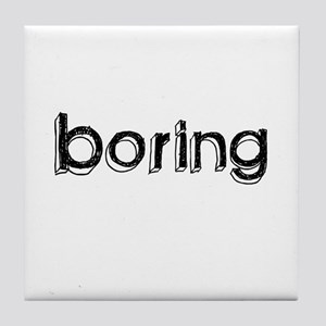 Boring Tile Coaster