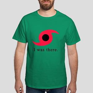 I Was There Hurricane Symbol Dark T-Shirt
