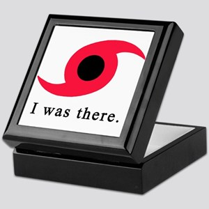 I Was There Hurricane Symbol Keepsake Box