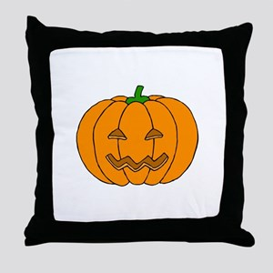 Jack O Lantern Throw Pillow