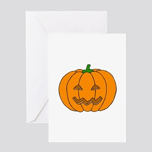 Jack O Lantern Greeting Card