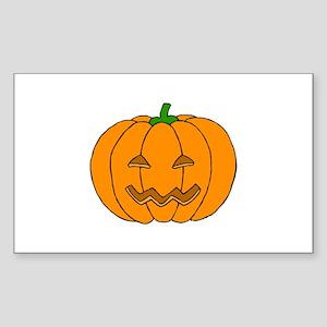 Jack O Lantern Rectangle Sticker