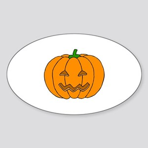 Jack O Lantern Oval Sticker