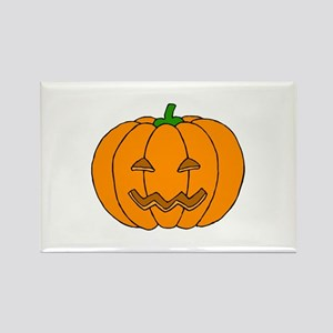 Jack O Lantern Rectangle Magnet