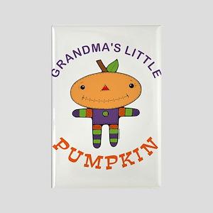 Grandma's Little Pumpkin Rectangle Magnet
