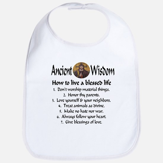 How to live a blessed life Bib