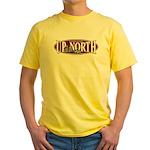 Up North Nortwoods Snowmobiler Yellow T-Shirt