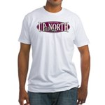 Up North Nortwoods Snowmobiler Fitted T-Shirt