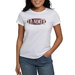 Up North Nortwoods Snowmobiler Women's T-Shirt