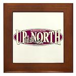 Up North Nortwoods Snowmobiler Framed Tile