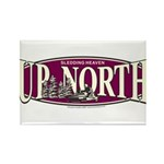 Up North Nortwoods Snowmobiler Rectangle Magnet (1