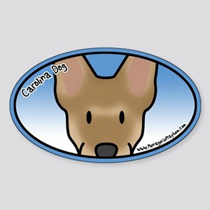 Anime Carolina Dog Oval Sticker