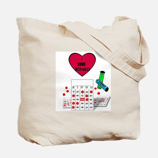 BINGO LOVE Tote Bag