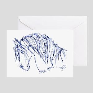 Friesian Horse Greeting Card