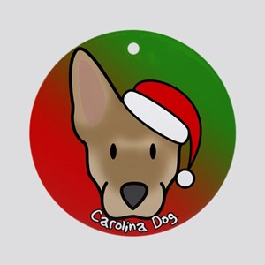 Cartoon Carolina Dog Christmas Ornament