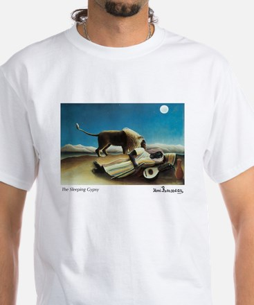 The Sleeping Gypsy White T-Shirt
