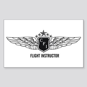 Flight Instructor Rectangle Sticker