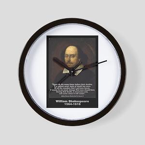 William Shakespeare Quote Wall Clock