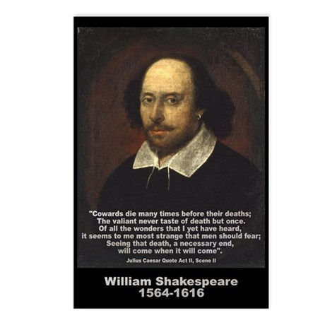 William Shakespeare Quote Postcards (Package of 8)