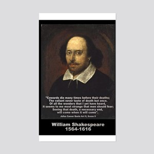 William Shakespeare Quote Rectangle Sticker