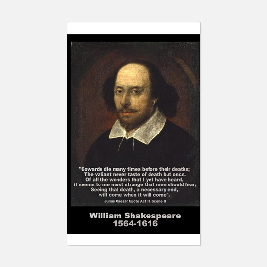 William Shakespeare Quote Rectangle Decal