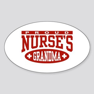 Proud Nurse's Grandma Oval Sticker