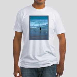 """Surfer, ocean, peace..."" Fitted T-Shirt"